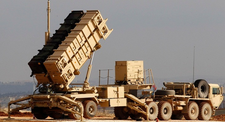 File photo of a U.S. Patriot missile system at a Turkish military base in Gaziantep