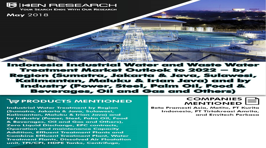 Indonesia Industrial Water and Waste Water Treatment Market is Expected to Reach USD 1.2 Billion by 2022: Ken Research