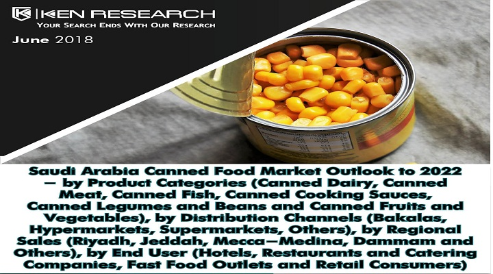 Saudi Arabia Canned Food Market Driven by Increasing Number of Hotels, Restaurants and Fast food Outlets, a Rising Number of Modern Retail Outlets and Growth in the number of Hajj and Umrah Pilgrims: KenResearch