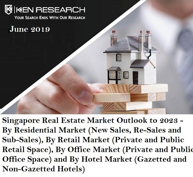 Singapore Real Estate Market is Expected to Grow at a Forecasted CAGR of 3.6% towards residential space, 1.0% towards retail space, 4.3% towards office space and 3.2% towards the country's hotel real estate space by 2023: KenResearch