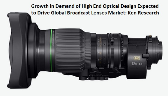 Growth in Demand of High End Optical Design Expected to Drive Global Broadcast Lenses Market: Ken Research